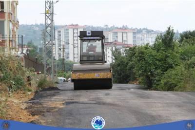 asfaltlama çalışmalarımız