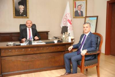 Başkanımız Yeni Kaymakamımız Muhammet Öztabak'a Hayırlı Olsun Ziyaretinde Bulundu