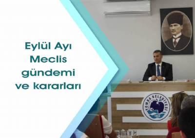 Eylül ayı meclis gündem ve kararları