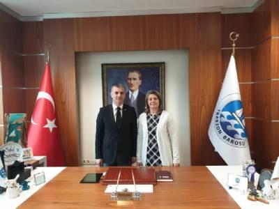 Trabzon Baro Başkanı Av. Sibel Suiçmez ve Yönetimine Ziyaret