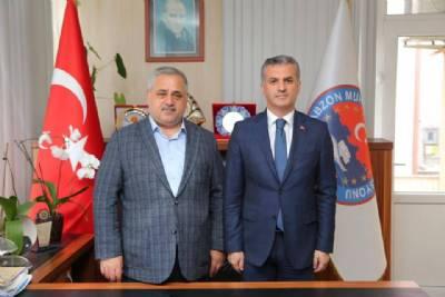Başkanımız Türkiye Muhtarlar Konfederasyonu Başkanı Bekir Aktürk'ü Ziyaret Etti
