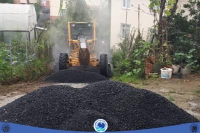 Çamlıca Mahallesi asfaltlama çalışmalarımız…