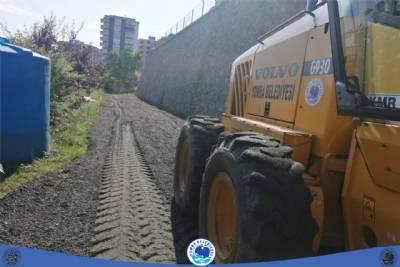 Sancak Mahallesi yol bakım çalışmalarımız…