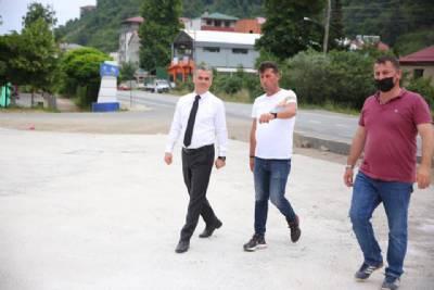 Başkanımız Namıkkemal Mahallesi'nde Yapımına Devam Ettiğimiz Otoparkta İncelemelerde Bulundu