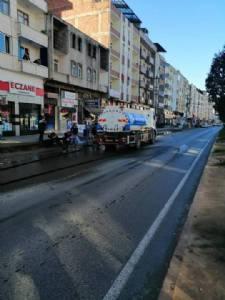 Sokağa Çıkma Yasağı Süresince Sokaklarımızı Yıkama Çalışmaları Devam Ediyor