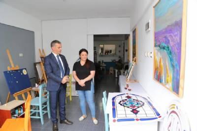 Başkanımız Ressam Sevgi Birinci Özdemir'i Ziyaret Etti