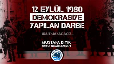 12 Eylül demokrasiye yapılan darbe